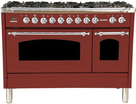 HGR4802DFBG 48 inch  Dual Fuel Natural Gas Range with 7 Sealed Burners  5 cu. ft. Total Capacity True Convection Oven  Griddle  in