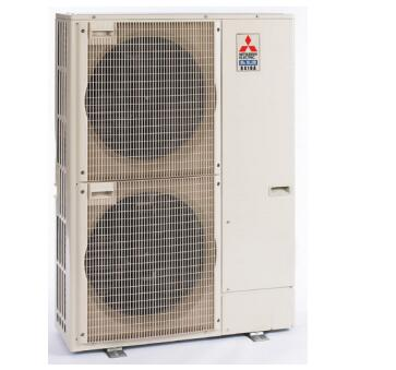 PUZA42NHA6 38 inch  Mini Split Outdoor Condenser Unit with 42 000 BTU Cooling Capacity  DC Inverter-driven Twin Rotary Compressor  Quiet Operation  and 230/208