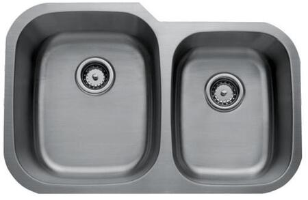CMU3221-97-16 Craftsmen Series Stainless Steel Double Bowl Undermount Sinks  Small Bowl on