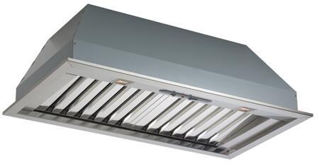 FIMAX46B9SS-1 46 inch  Pro Insert Collection Massimo Wall Mount Insert with 600 CFM  Halogen Lighting  4 Speed Slider Control and Baffle Filters in Stainless