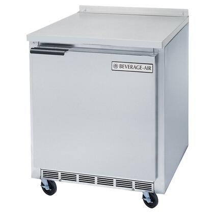 "WTF27A 27"" Single Door Compact 7.3 cu. ft. Worktop Freezer with Interior Thermometer  Cabinets Insulated with Foamed-in-Place Polyurethane Insulation of 2"""