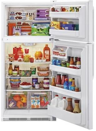 HRT18RCWW 30 inch  Wire Shelves Top Mount Refrigerator with 18.1 cu. ft. Capacity  Dual Knob Mechanical Control  Clear Fresh Food Crisper  in