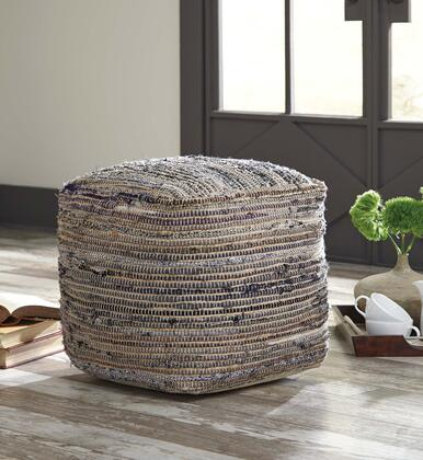 Absalom A1000550 16 Pouf Ottoman with Cotton and Hemp Blend and Filled with EPS Beads in