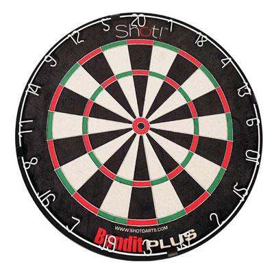60007 Bandit Plus Staple-free Bristle Dartboard With Throw Line Marker And Dry Erase