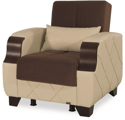 Molina Collection MOLINA ARMCHAIR DARK BROWN / CREAM 45