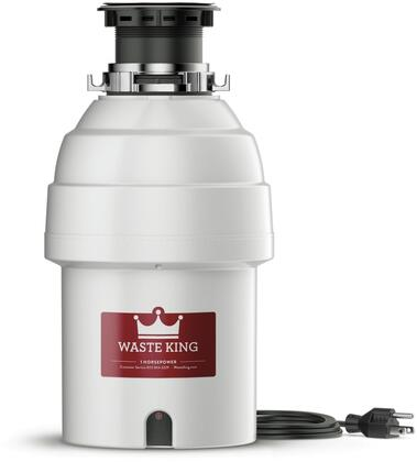 L8000TC 9 inch  Legend Series Waste Disposer with 1 HP  Batch Feed  Lifetime Warranty  Stainless Steel Grinding Components  and 2800 RPM High Speed Permanent Magnet