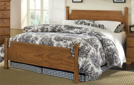 Creek Side Collection 387240-3-971500 Full Size Poster Bed with Poster Headboard & Footboard and Metal Slat-less Rails in Autumn