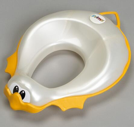 785W Primo Ducka Toilet Set Reducer in White with Yellow Rubber