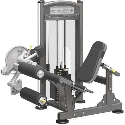 E-4965 Titanium Series 9328 Leg Extension/Curl Machine with 200 lbs. Incremental Weight Stack  Military Grade Cables and High-Tech Oval Tubing in Black and