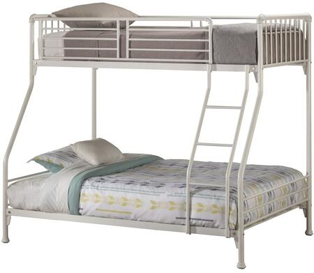 Brandi Collection 2001BTFB Twin Over Full Size Bunk Bed with Open Frame Design  Ladder  Guardrails and Sturdy Steel Metal Construction in