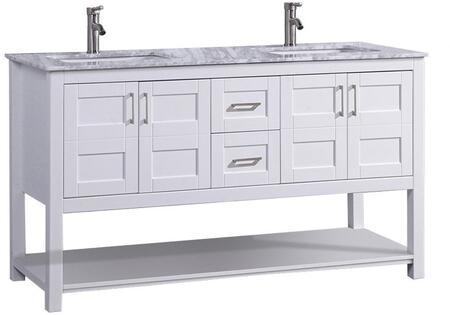 -2160W Norway 60 Single Sink Bathroom Vanity Set