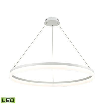 LC2401-N-30 Cycloid 1 Light LED Pendant In Matte White With Acrylic Diffuser -