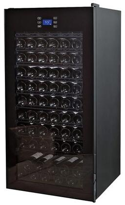 269019203 Wine Enthusiast Classic Wine Cellar with 92 Bottles Capacity  Glass Door  Free Standing Design  Adjustable Thermostat  and LED Lighting  in