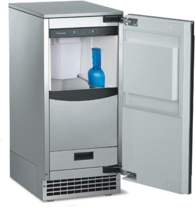 "SCN60PA1SU Brilliance Nugget 15"" Undercounter Ice Machine with Self-Closing Door  Bin Light  and Field Reversible Door  Up to 80 lbs. of Ice  Pump Drain"