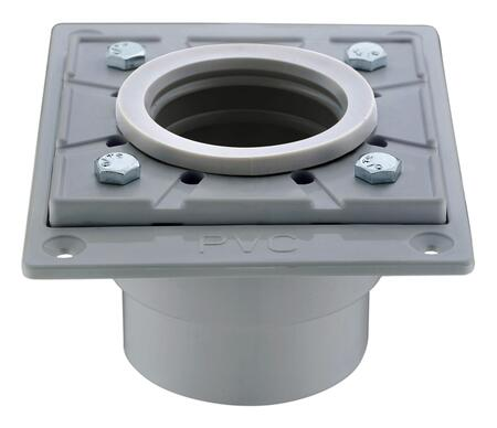 ABDB55 PVC Shower Drain Base with Rubber
