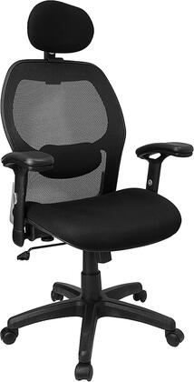 LF-W42B-HR-GG High Back Super Mesh Office Chair with Black Fabric