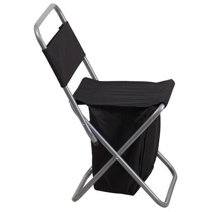 TY1262-BK-EMB-GG Embroidered Folding Camping Chair with Insulated Storage in