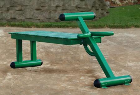 65-2300 Outdoor Fitness Bench with Solid Steel Construction  Stainless Hardware and Weather Resistant Paint in