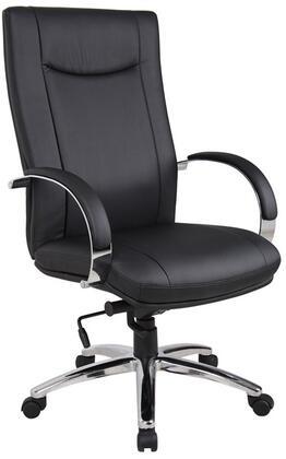 AELE75C-B Aaria Elektra High Back Modern Executive Chair With Knee Tilt in Black