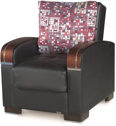 Mobimax Collection MOBIMAX ARM CHAIR BLACK PU 11-450 35