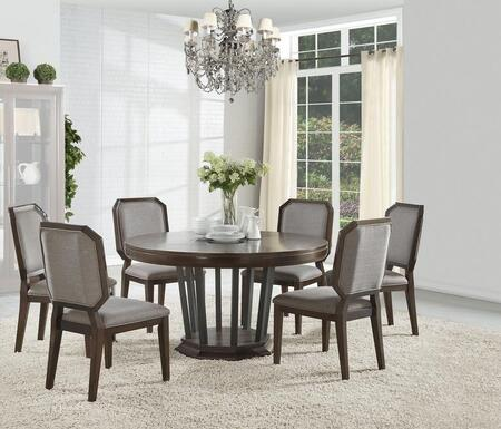 Selma Collection 640857SET 7 PC Dining Room Set with 54