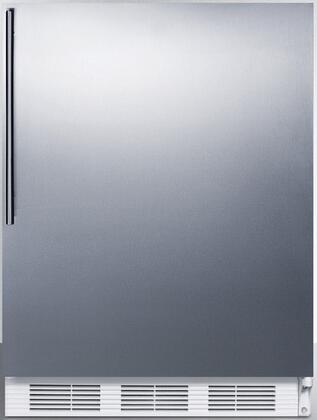CT66JSSHV 24 inch  Freestanding Compact Refrigerator with 5.1 cu. ft. Capacity  Dual Evaporator Cooling  Zero Degree Freezer  Adjustable Shelves  Door Shelves and