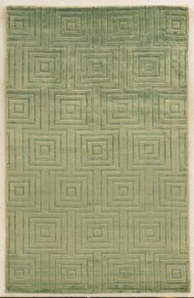 VILVT864900470203 Villa Travina VT8649-2' x 3' Hand-Loomed 100% Viscose Rug in Light Green   Rectangle