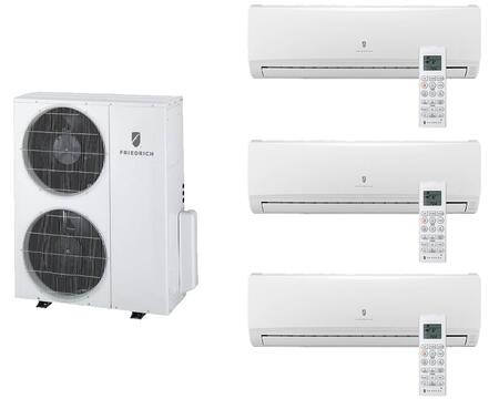Multi-Zone Ductless Split System for 3 Rooms  with 34 000 BTUs  Inverter Technology  4-Way Auto Swing  Heat Pump  17.5 SEER  12.5 EER  R410A