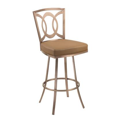 LCDR30SWBACAG201 Drake 30 inch  Contemporary Swivel Barstool In Camel and Gold
