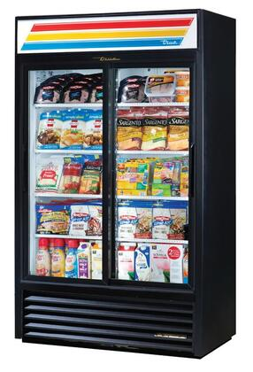 GDM-43-LD Two-Door Refrigerator Merchandiser with 40.6 Cu. Ft. Capacity  LED Lighting  and Thermal Insulated Glass Swing-Doors in
