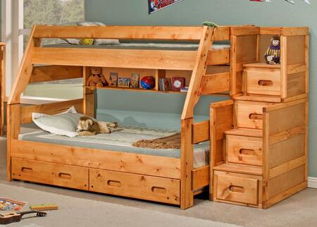 3544720-4754-T Twin Over Full Bunk Bed with Trundle and Stairway Chest