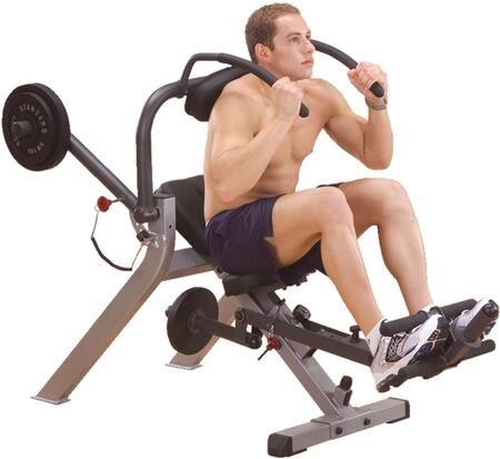 GAB300 Body Solid Semi-Recumbent Ab Bench with Weight Resistance and Assistance