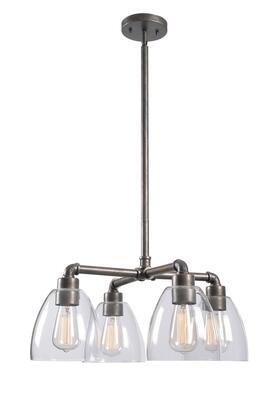 Steam Fitter 93194VM 4-Light Chandelier with 6