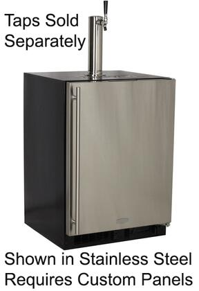 "ML24BNP2RP 24"" Built-In Beer Refrigerator with Dynamic Cooling Technology  Integrated Hinge  2 Removable Metal Shelves and Close Door Assist System: Solid"