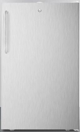 FF511LBI7SSTB 20 inch  Medical  Commercial Freestanding or Built In Compact Refrigerator with 4.1 cu. ft. Capacity  Door Lock  Hospital Grade Cord  Crisper and