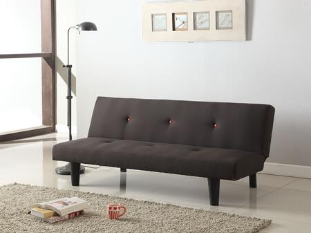 Beynon Collection 57168 Adjustable Sofa with Button Tufted Cushions  Tapered Legs and Linen Upholstery in Grey