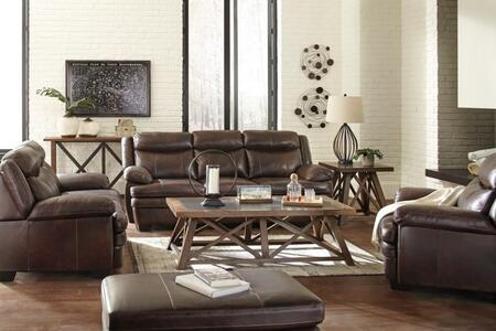 Hannalore Collection 1530438slco 4 Pc Living Room Set With Sofa + Loveseat + Armchair + Ottoman In Cafe