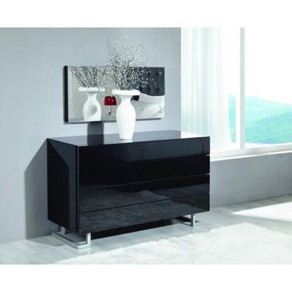 LYRICA-DRB Lyrica White 4 Drawers Dresser: