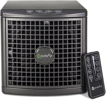 PUREAIR1500USBLK Air Purifier with 1500 Sq. Ft. Coverage Area  Remote Control  Silent Mode  Adjustable Purification  Needlepoint Ion Generation  Washable Rear