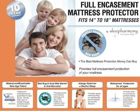 686 14-18 Full Encasement Mattress Protectors (Set Of 4) King