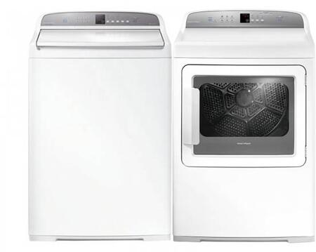 "White Top Load Laundry Pair with WA3927G1 27"""" Washer and DG7027G1 27"""" Gas"" 730405"
