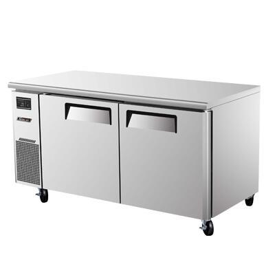 JUF60 15 cu. ft. J Series Undercounter Freezer with Efficient Refrigeration System  Side Mount Compressor  Adjustable Shelves and High Density PU Insulation: