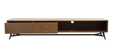 """Tempo_Collection_TEMPOTV2_79""""_Low_Profile_Entertainment_Cabinet_with_Low_Profile__Push_Release_Drawer_and_Open_Shelf_in"""