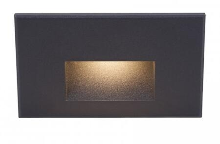LEDme WL-LED100F-AM-BK  277V Step and Wall Light with Amber 610nm Light Color and Direct Wiring in Black