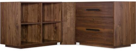 1650-10245-MWD-FC-DK 3-Piece Cabinet Set with Desk  File Cabinet and Bookcase in Medium