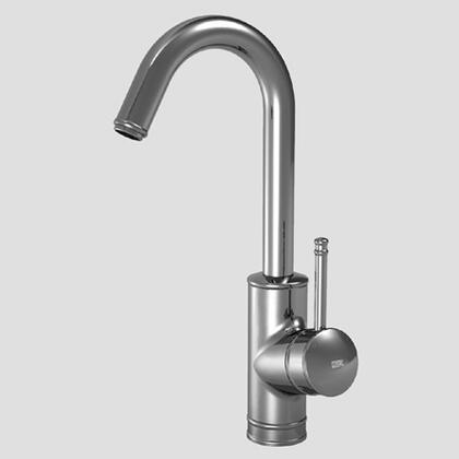 10.031.991.127 Single-hole  single side-lever bar mixer with arched swivel spout in Splendure Stainless