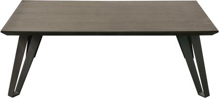 Sigma SIGMADT 71 inch  Rectangular Dining Table with Veneer Top with Tapered Apron and Grey Powder Coat Iron Legs in