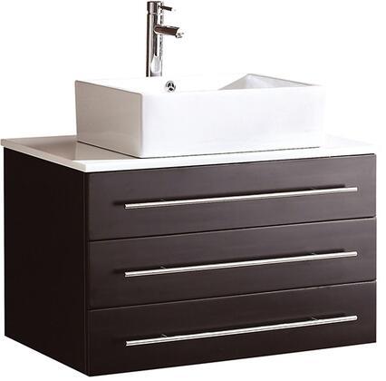FCB6183ES-CWH-V Fresca Modello Espresso Modern Bathroom Cabinet w/ Top & Vessel