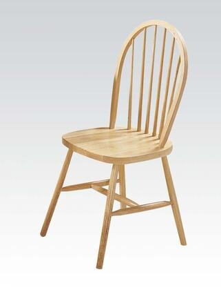 Farmhouse Collection 02613N 36 inch  Set of 4 Side Chairs with Spindle Back  Oval Seat  Plain Tapered Legs and Rubberwood Construction in Natural