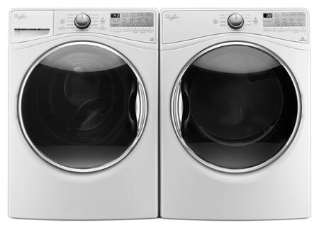White Front Load Laundry Pair with WFW92HEFW 27